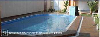 Encontrão para conhecer pessoas com piscina