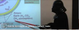 Aula de dominação da galáxia com Darth Vader.