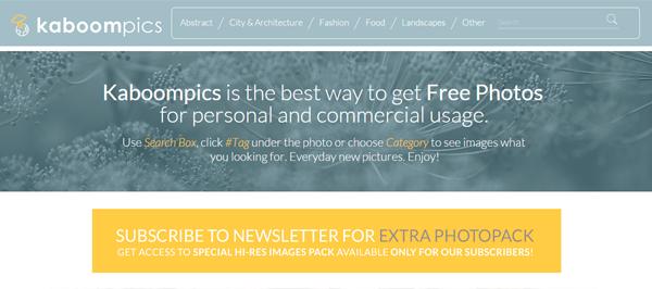 5 sites de imagens grátis kaboompics