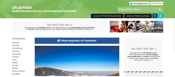 5 sites de imagens grátis pic jumbo