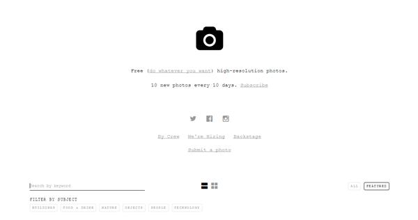 5 sites de imagens grátis unsplash