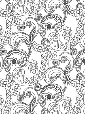 Colorir o novo anti stress para adultos midiadrops for Free printable coloring pages for older students