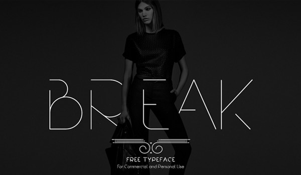 line-fonts-gratuitas-break-midiadrops